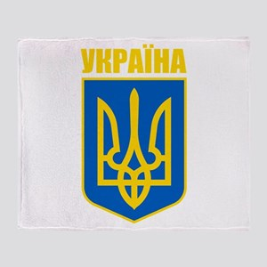 """Ukraine COA"" Throw Blanket"