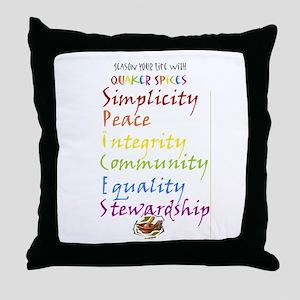 Quaker Spices Throw Pillow