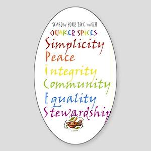 Quaker Spices Sticker (Oval)