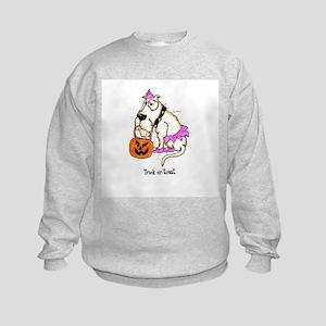 Trick or Treat Dog Kids Sweatshirt