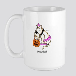 Trick or Treat Dog Large Mug