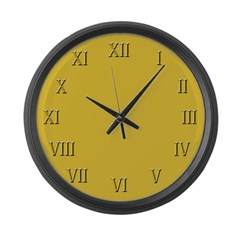 Soft Yellow Roman Numerals Large Wall Clock