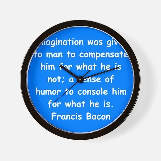 francis bacon Wall Clock