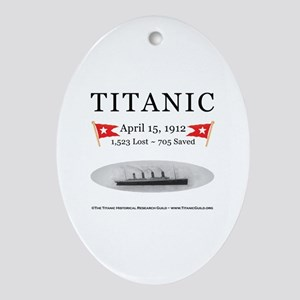 Titanic Ghost Ship (white) Oval Ornament Porcelain