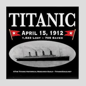 Titanic Ghost Ship (black) Tile Coaster