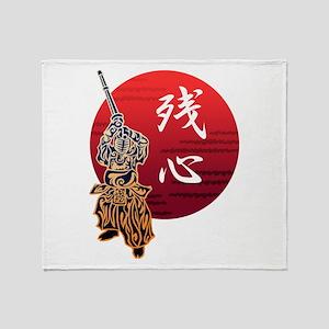 Kendo zanshin Throw Blanket