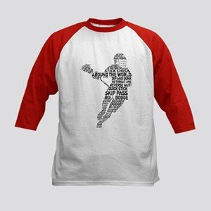 Lacrosse LAX Player Kids Baseball Jersey