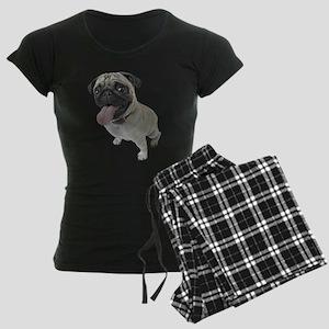 Pug Close-Up Women's Dark Pajamas