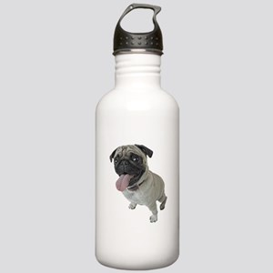 Pug Close-Up Stainless Water Bottle 1.0L