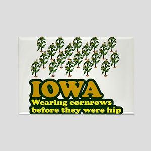 Iowa cornrows before hip Rectangle Magnet