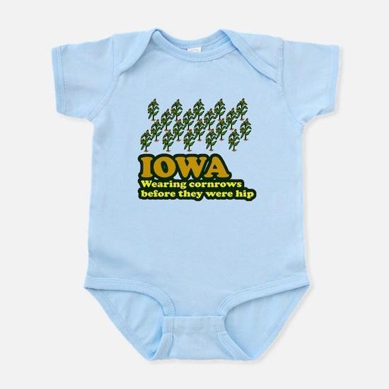 Iowa cornrows before hip Infant Bodysuit