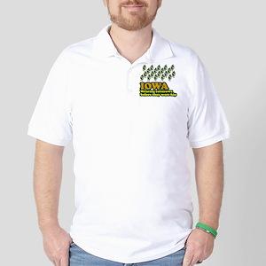 Iowa cornrows before hip Golf Shirt