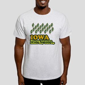 Iowa cornrows before hip Light T-Shirt
