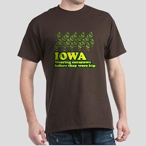 Iowa cornrows before hip Dark T-Shirt
