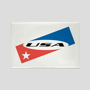 USA Version 1 Rectangle Magnet