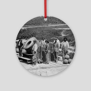 "13"" Siege Mortar Ornament (Round)"