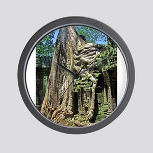 Te Phrom Tree Overgrowth 8 Wall Clock