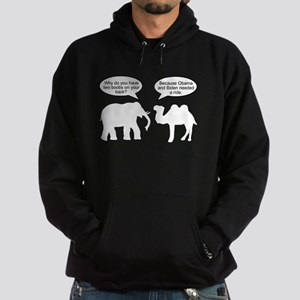 Why boobs on your back Hoodie (dark)