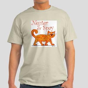 Neuter & Spay (Orange Cat) Light T-Shirt