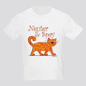 Neuter & Spay (Orange Cat) Kids Light T-Shirt
