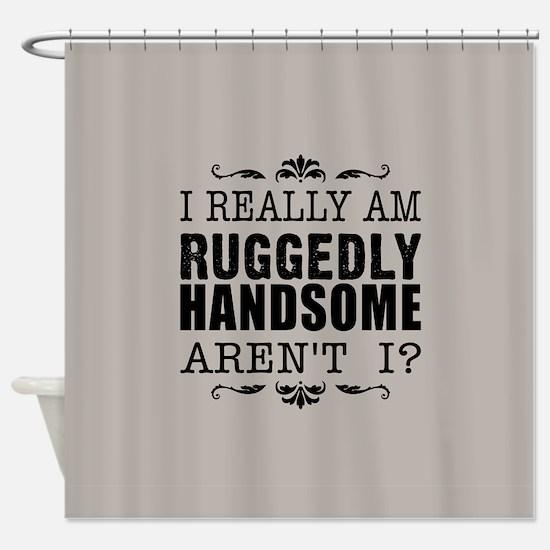 Kiki's Ruggedly Handsome Shower Curtain