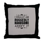 Kiki's Ruggedly Handsome Throw Pillow
