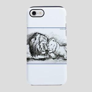 Lions! Wildlife art! iPhone 7 Tough Case
