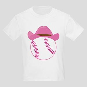 Softball Cowgirl Gift Kids Light T-Shirt