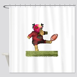 Football Moose Shower Curtain