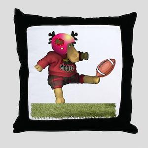 Football Moose Throw Pillow