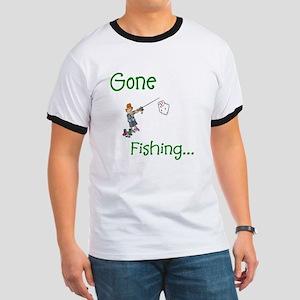 Gone Fishing Ringer T
