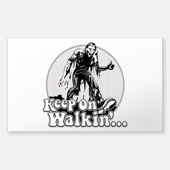Keep On Walkin' Sticker (Rectangle)