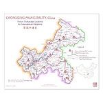 Chongqing Orphanage Map Small Poster (v1.4) 16x20