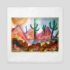 Desert! Southwest art! Queen Duvet