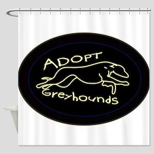 More Greyhound Logos Shower Curtain