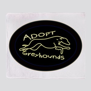 More Greyhound Logos Throw Blanket
