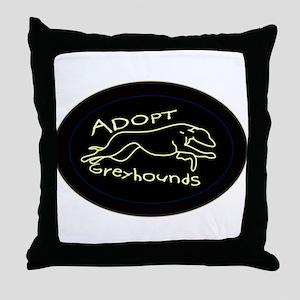 More Greyhound Logos Throw Pillow