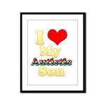 I Love My Autistic Son Framed Panel Print