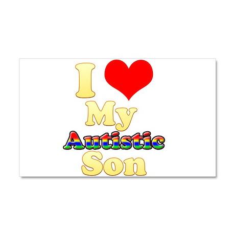 I Love My Autistic Son Car Magnet 20 x 12