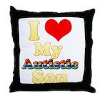 I Love My Autistic Son Throw Pillow