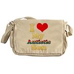 I Love My Autistic Son Messenger Bag