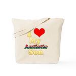 I Love My Autistic Son Tote Bag