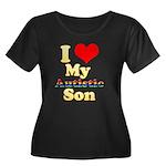 I Love My Autistic Son Women's Plus Size Scoop Nec