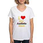 I Love My Autistic Son Women's V-Neck T-Shirt
