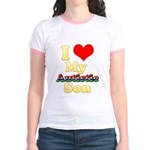 I Love My Autistic Son Jr. Ringer T-Shirt