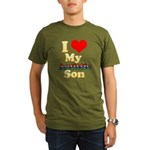 I Love My Autistic Son Organic Men's T-Shirt (dark