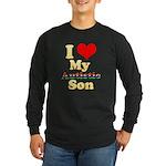 I Love My Autistic Son Long Sleeve Dark T-Shirt