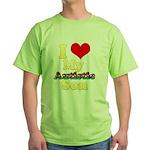 I Love My Autistic Son Green T-Shirt