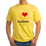 I Love My Autistic Son Yellow T-Shirt