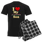 I Love My Autistic Son Men's Dark Pajamas